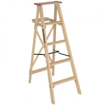 HD Industrial Wood Step Ladder